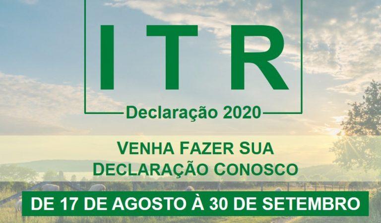 Prazo para que os proprietários rurais declarem seu imposto sobre a Propriedade Territorial Rural (ITR), começou nesta segunda-feira, 17 de Agosto.